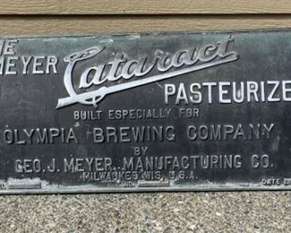 """""""The Meyer Cataract Pasteurizer"""" Metal Sign"""