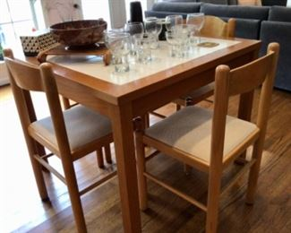 Vintage Breakfast table & chairs made in Denmark