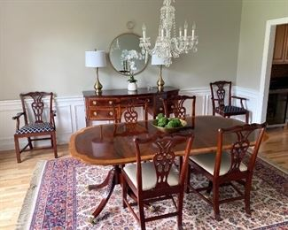 To start off this Fabulous Sale is this Exquisite Baker Dining Room Table 6 Chairs + Server