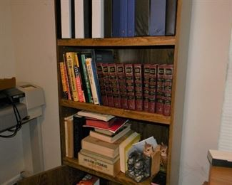 2 matching book cases