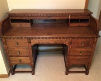 Gorgeous Roll Top Desk Circa 1880's from London, England
