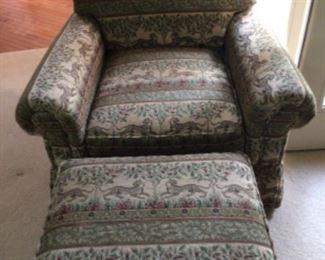 Massoud Chair and Ottoman