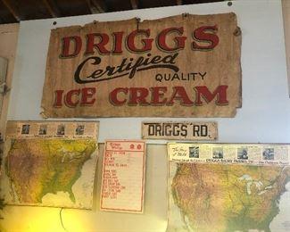 Driggs linen sign