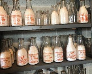 Driggs milk bottles