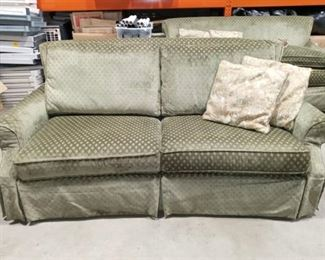 Wrangler Home by Flexsteel Green Couch with 2 Accent Pillows Approximately 37 x 84 x 45 in