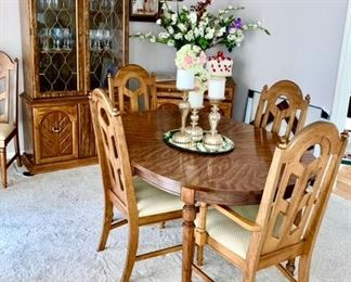 Dining room table & 6 chairs, china hutch