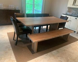 """Crate & Barrel  Dining Room Table 77.5"""" L x 37"""" W"""