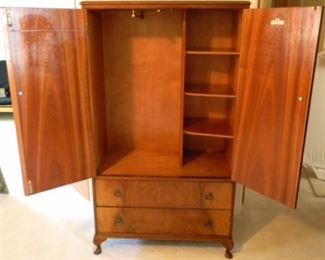 """Beithcraft Furniture Manufactured by The Best Of Scotland Furniture mfg. coy. Ltd Beith Ayrshire Armoire with 2 Drawers (58.5""""x 33""""x17.5"""")"""
