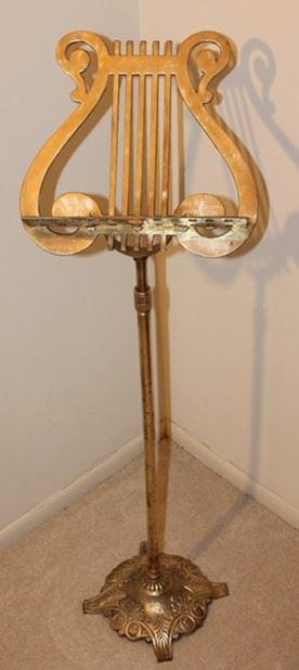 Brass Adjustable Sheet Music Holder Stand