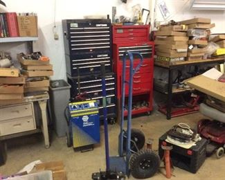 TOOLS, TOOLBOX, BATTERY CHARGER, DOLLYS