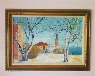 Original oil of Split Rock Lighthouse
