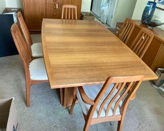 Ansagar Mobler Teak Extension Dining Table Danish Modern