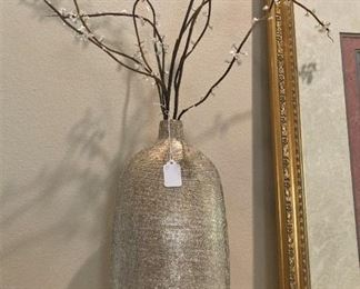 One of two large vases