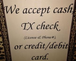 There is a  charge for card use.