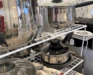 Pots and other kitchen selections