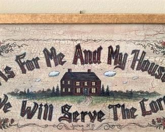 """""""As for me and my house .  .  .  """"  Joshua 24:15"""
