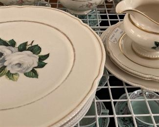 """""""York Rose"""" Castleton China - made in the USA"""