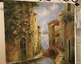 Tuscan theme wall mural