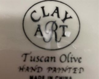 """Hand painted """"Tuscan Olive"""""""