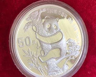 5 Oz Chinese Silver Panda Coin