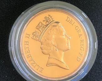1985 Elizabeth II 2 Pounds Gold Coin