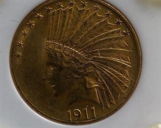 1911 $10 Gold Coin