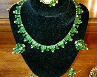 Costume Jewelry,  thousands of pieces,  Elsa Schiaparelli, Schriener NY, Kramer NY, Hobe, Boucher, Regency, Vendome, Lisner, Trifari. W. German, Japan, unmarked