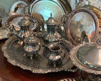 Silver Plate tea abs coffee set
