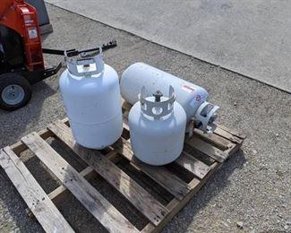 (3) Propane Tanks (1) 20lb (2) 30lb