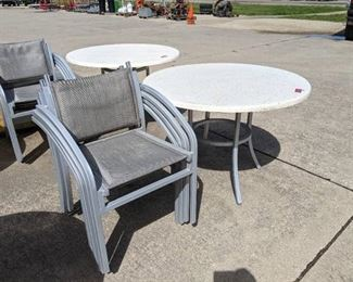 Metal Frame Patio Table And Chair Set