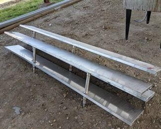 (2) 2 Tier Stainless Steel Overhead Shelves