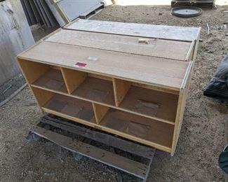 (3) Wooden Storage Cubbies