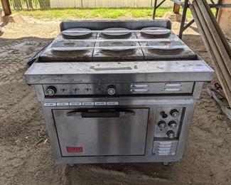 Lang 6 Burner Electric Range With Oven Below