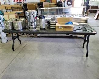 8ft Black Plastic Folding Table
