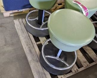 Set of 2 green stools