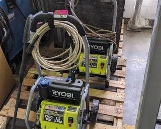 Set of 2 Ryobi Electric Pressure Washers