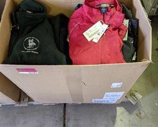 Box of Misc Fleece and Nylon Jackets