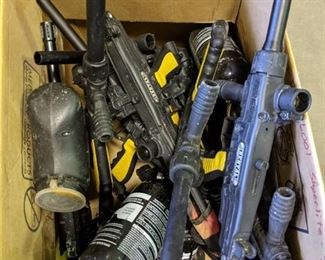 Lot of Tippman Paintball Guns - min of 12 per box, 1 box per auction item