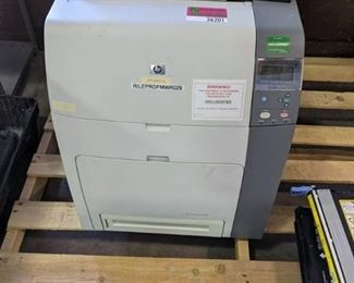 HP Color LaserJet 4700dn Printer with extra cartridges