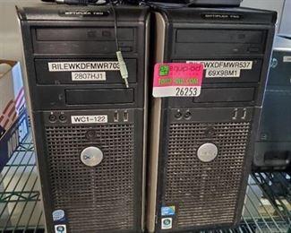 (2) Dell Optiflex 780 CPUs