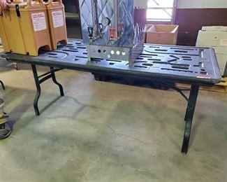 6ft Black Folding Table