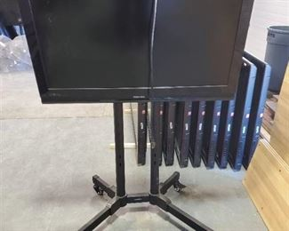 Toshiba 37in TV With Rolling Stand