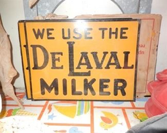 Brand New De Laval Milker signs