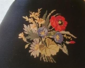 Vintage Dining Chair with Needlepoint Seats
