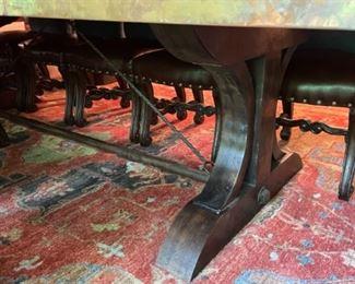 Wood & Iron Trestle Table Base