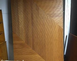 This beautiful wood panel could be used in many ways.  It would make an incredible headboard, or simply hang it on the wall and it will do all of the talking!  Lovely.