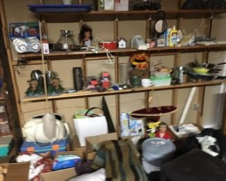 Vintage dishes, vintage toys, just a cornucopia of things to glance at and admire.