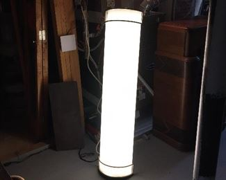 This light could be mounted on the ceiling, or above a bathroom mirror.  Great details.