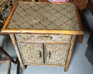 With a little TLC, this great bamboo side table would be a great addition.