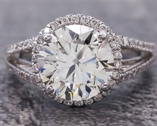 3.00 Carat Diamond Ring in 18k White Gold